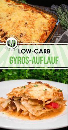 Der Gyros-Auflauf ist lowcarb, glutenfrei und super lecker.