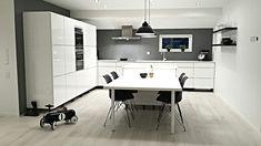 Modern scandinavian kitchen #black #white #contemporary #nordic #home #grey #design #linnadesign