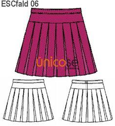 FALDA MULTITABLAS CON REBECA, CIERRE ESPALDA. Sewing Tutorials, Cheer Skirts, Stitching, Girl Outfits, Tools, Patterns, Clothes, Fashion, School Clothing
