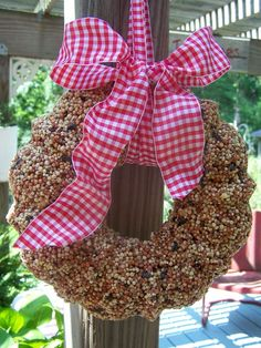 Bird seed wreath...DIY