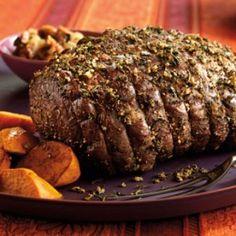 New York Strip Loin Roast with Garlic Herb Crust