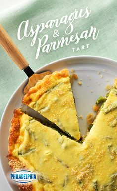 Try this egg-cellent tart made with Philadelphia Cream Cheese, fresh asparagus, sour cream and Kraft Shredded Parmesan Cheese.