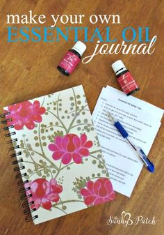 essential oils planner essential oil notebook essential oil printable young living doterra. Black Bedroom Furniture Sets. Home Design Ideas