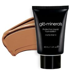 GloMinerals Protective Liquid Foundation - Matte II, 1.4 oz - Honey
