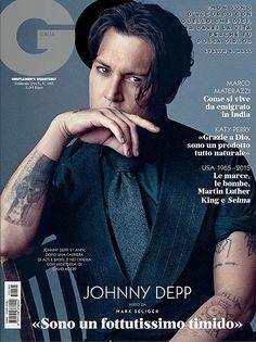 GQ Italia y Johnny Depp - El Portadista Johnny Depp, Marlon Brando, Hot Actors, Actors & Actresses, Gq Magazine Covers, Captain Jack, Love Affair, Celebrity Couples, Best Actor