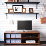 Living Room Furniture - Sofas, Coffee Tables & Inspiration - IKEA  Shelves above the TV...