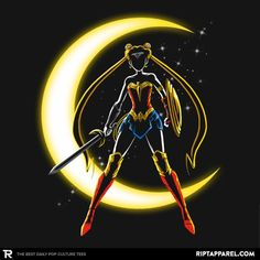 ''Wonder Moon'' by Andriu available today only, 3/26/17, at RIPT Apparel
