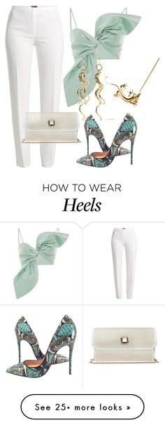 """""""Lezard"""" by glamheartcafe on Polyvore featuring Basler, Elie Saab, Kenneth Jay Lane, Christian Louboutin and topsets"""