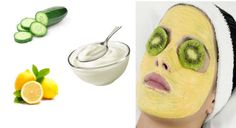 1. Cucumber, yogurt and lemon mask: | Simple Home Remedies To Protect Your Skin From Summer