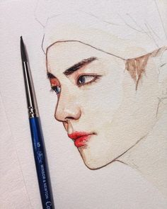 c h o c a d ac Taehyung Fanart, Kpop Drawings, Kpop Fanart, Beautiful Drawings, Colorful Drawings, Grafik Design, Drawing Sketches, Art Inspo, Painting & Drawing
