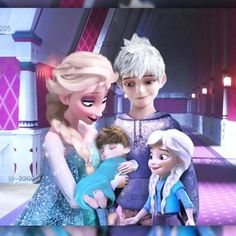 I love that the baby's hair is brown like jack before he became jack frost.