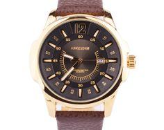Luxusné pánske analógové hodinky Curren v zlatej farbe
