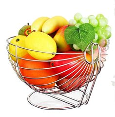 Amazon.com | Bestwoohome Stainless Steel Metal Swing Fruit Vegetable Bowl…
