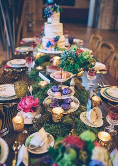 whimsical wonderland tablescape - photo by Ed and Aileen Photography http://ruffledblog.com/whimsical-chicago-wonderland-styled-shoot