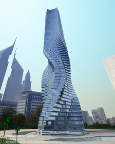 Dubai's Wind powered rotating skyscraper! Each floor moves so the building never looks the same twice AND you get a different view every hour!