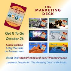 Excited to offer a very special one-day DEAL to get #TheMarketingDeck Kindle Edition for 99¢ on Amazon, Get it to go! Thursday October 26th. The Marketing, Thursday, Kindle, October, Deck, How To Get, Amazon, Amazons, Riding Habit