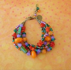 Boho Bracelet Southwest Jewelry Colorful Jewelry by BohoStyleMe