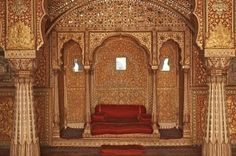 Stunning room inside the palace of the Maharaja of Bikaner.
