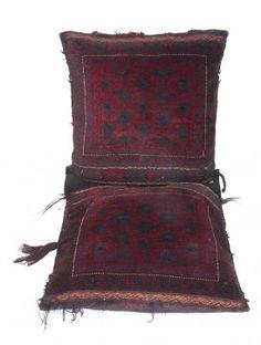 Multi-Color Wool Biloch Saddle Bag 53in x 23in