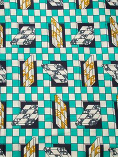 Ethnic Print Fabric geometric Pattern Super Deluxe Wax Print 6 Yards sw091326_3