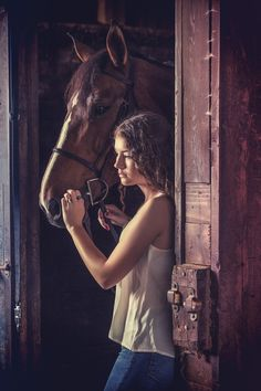 Emma by Dan Rowe on 500px Portrait with a horse, stable