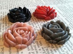 Intro SaLE  fc2502 New Style Flower Cabochons by PinkyNoodles, $2.25