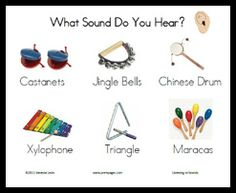 Free printable sounds science activity listening to sounds