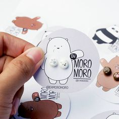 We Bare Bears Ice Bear Stud Earring This is 100% handmade polymer clay jewellery. Each individual are exclusively handmade by me with extra attention to details. Measurements: • size : 1 cm ________________________________________________________________ Materials: • Polymer clay •