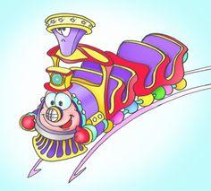 Veloce(issima) elaborazione a Photoshop su base disegnata a pennarello di un trenino sullo stile di una delle tante proposte elaborate per un vero trenino da miniotto.
