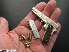 1911 for elves! Pocket Pistol, Minis, Self Defense Weapons, Cool Guns, Fantasy Weapons, Guns And Ammo, Revolver, Gi Joe, Tactical Gear