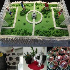 #neljävee #syntymäpäivä #juhlatjuhlittu #futis #futiskakku#jalkapallokakku #birthdayparty #fouryears #footballcake #partyover #happyboy