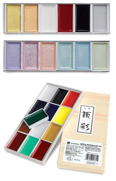 You can find These Various sumi-e watercolor sets on: http://www.dickblick.com/products/yasutomo-sumi-e-watercolor-sets/
