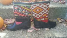 NWOB Moroccan Kilim Rug and Leather Boots Souli Souli size 40 in Clothing, Shoes & Accessories, Women's Shoes, Boots | eBay
