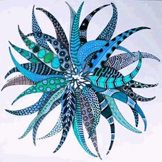 zentangle mandala -~Zentangle - More doodle ideas - Zentangle - doodle - doodling - zentangle patterns. Deco Bobo, Zentangle Patterns, Zentangles, Deco Nature, Art Folder, Blue Jay, Painted Leaves, Doodle Art, Doodle Ideas