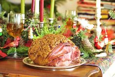 240. Hot Buttered Rum and Pecan Encrusted Christmas Ham | Simply Gourmet
