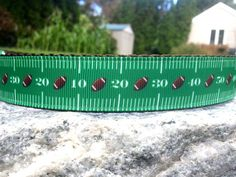 Football Field  1 Inch Width Dog Collar by WillyWoofs on Etsy, $17.00