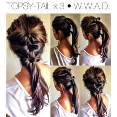 3 pony tail up do