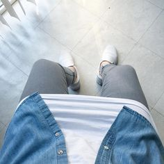 Hot weather...  #nomegusta  #ootd Details:  #zara jeans #vans leather shoes #cyamoda basic muscle tee #weekend denim shirt  #outfitrepost #bestfitsdaily #crookedfashion #povoutfit #outfitfromabove #outfitofyourday #ooyd #outfitsociety #likeforlike #tagsforlikes #streetwearfactory #swagift_nation #bestofstreetwear #menstyle #streetwear