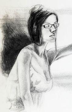 The Mirror - pencil sketch by Emmanuele Cammarano