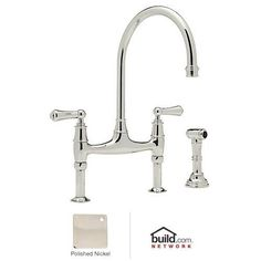 Attirant Rohl U.4719L PN 2 Perrin And Rowe Bridge Style Kitchen Faucet With