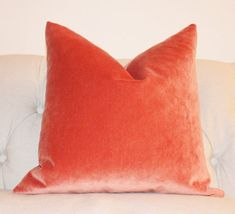 Orange Pillow - Orange Velvet Pillow Cover -Tangelo Solid Pillow Cover -  Orange Decorative Pillow - Throw Pillow - Pumpkin Orange