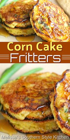 Drizzle these corn fritters with pure maple syrup for a rocking side dish fit for any meal #cornfritters #corncakes #cornrecipes #sidedishrecipes #cornrecipes #southernfood #southernrecipes #vegetarian