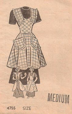 love the buttons on this apron / wish I could buy the pattern