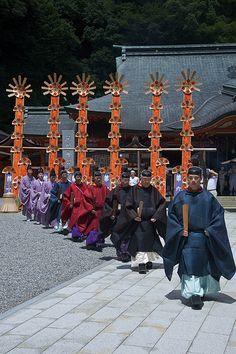 熊野那智大社例大祭、扇会式例祭. (那智の火祭り) 11-07-14