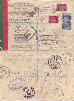 Portugal to Seychelles, via Morocco, Registered, Return to Sender, 1947