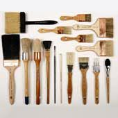 Fine decorative painting brushes and tools, glazing brushes, mural, stencil, plaster and faux brushes by Pierre Finkelstein