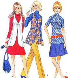 1970s Vintage Sewing Pattern McCalls 2538 Mod by paneenjerez, $10.00
