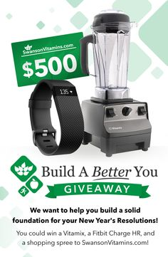 Enter to win the #Vitamix, #FitBit & $500 to SwansonVitamins.com!@ https://wn.nr/3KtTt
