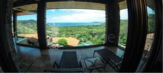 The balcony view upstairs at Casa De Los Suenos. Located in Hermosa Heights, Guanacaste Costa Rica.