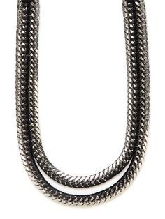 "We love this edgy ""Unzipped"" necklace from Lizzie Fortunato!"